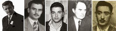 Los ajedrecistas Dimitrije Bjelica, Enrique  Catalán, Joaquim Durao, Alberic O'Kelly y Joaquim Serra