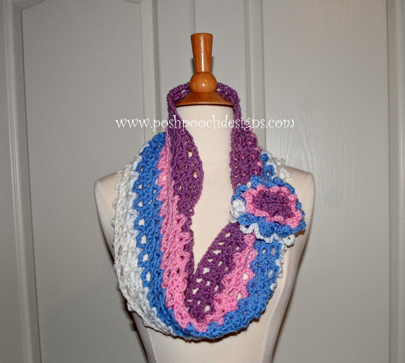 Posh Pooch Designs Dog Clothes: Spring Colors Cowl Free Crochet ...