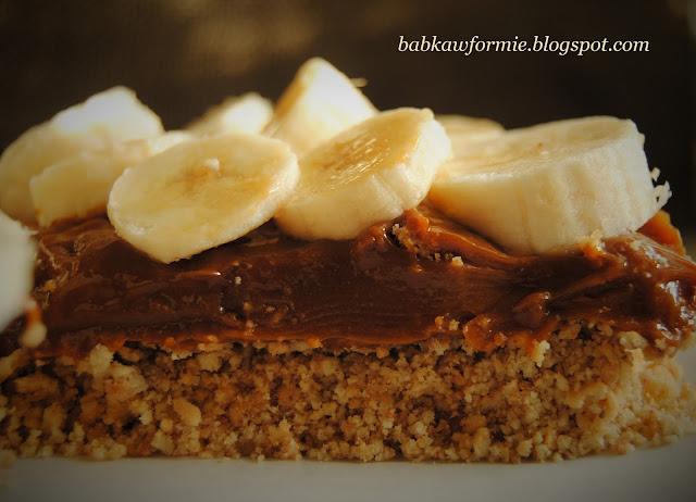 banofee pie torcik karmelowy - pyszne ciasto bez pieczenia na ciasteczkowym spodzie babkawformie.blogspot.com