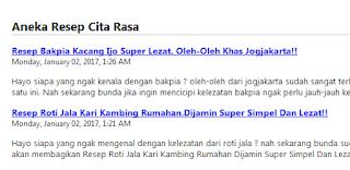 Rss Singkat/Tida Full