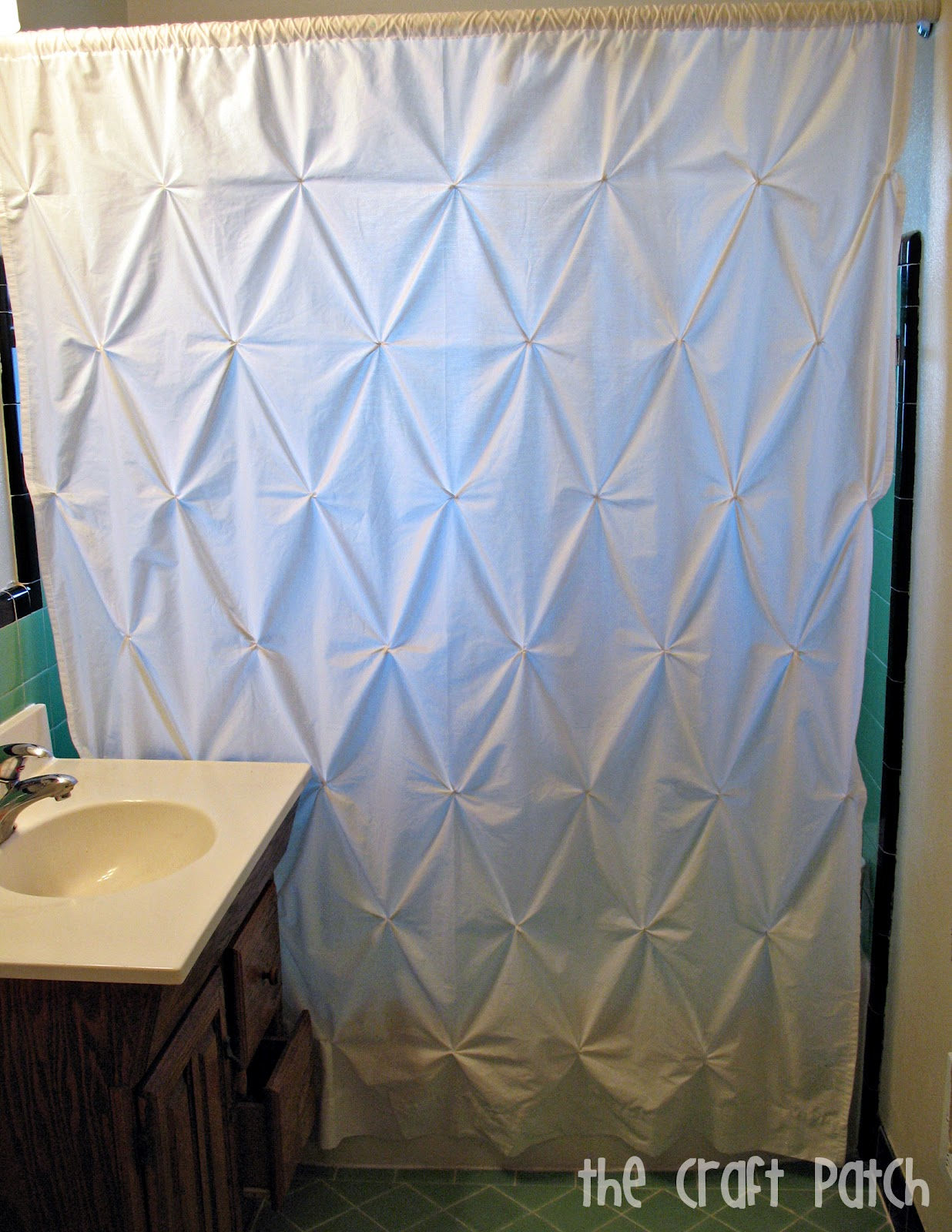 4 47 Pin Tuck Shower Curtain The Craft Patch
