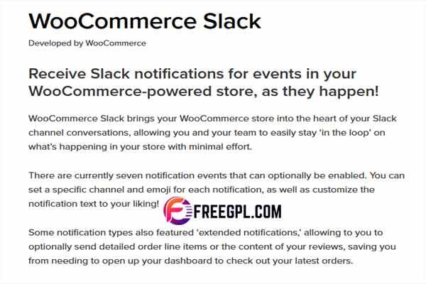 WooCommerce Slack WordPress Plugin Free Download