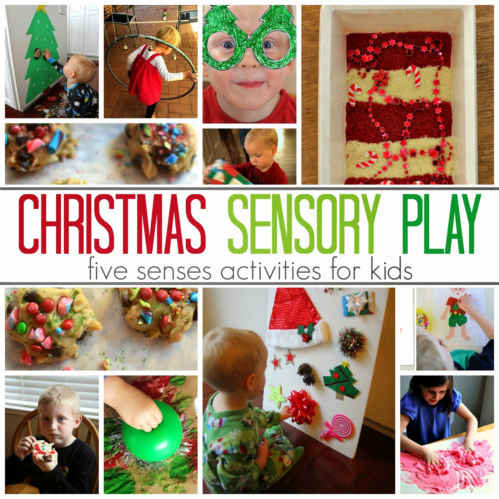 Toddler Approved 5 Senses Christmas Sensory Play