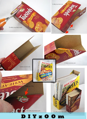 Magazine Basket Out of Cereal Box