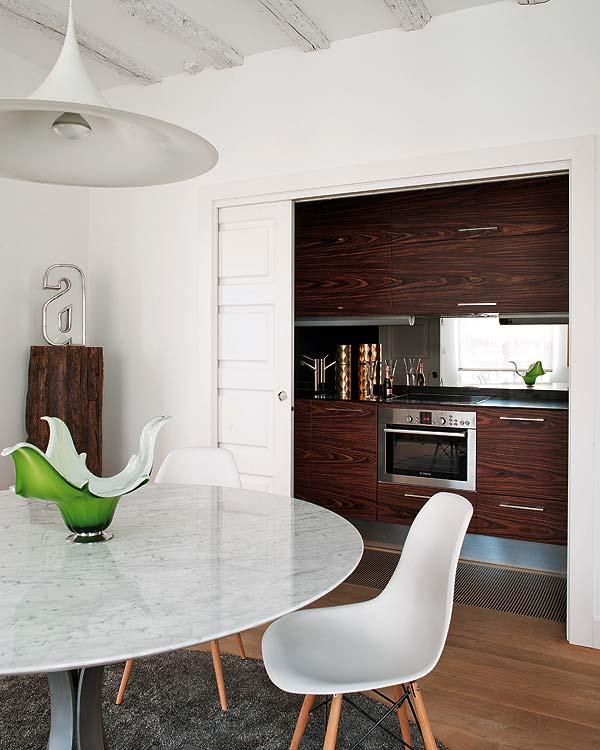 muebles de cocina de madera con veta muy marcada chicanddeco