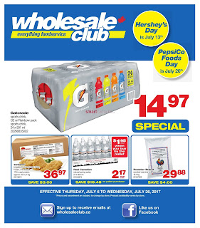 Wholesale Club Flyer July 6 – 26, 2017