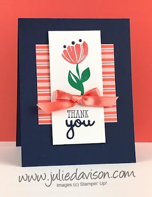 Stampin' Up! Bloom by Bloom + Well Said Bundle ~ Thank You Card ~ 2019 Occasions Catalog ~ www.juliedavison.com