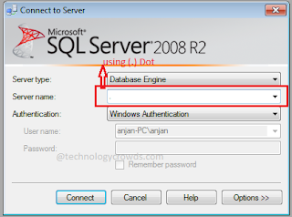 SQL Authentication using dot