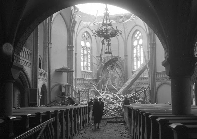 Vyborg Cathedral, after the bombing.