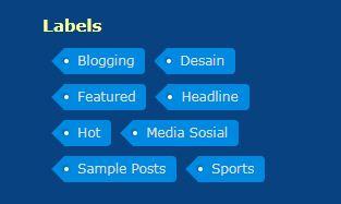 Tampilan Label Blog Keren, di Sidebar dan di Footer Blogger