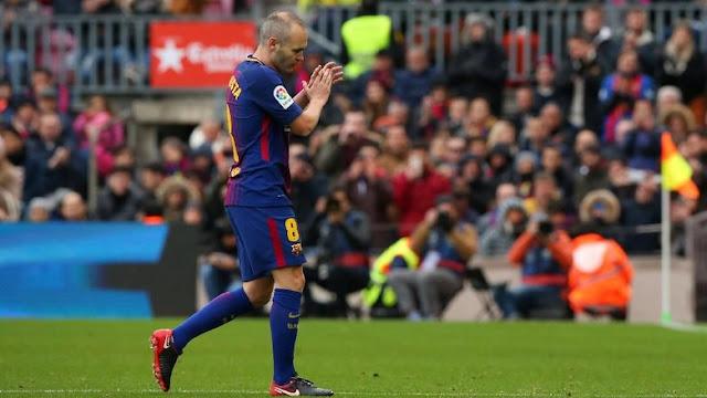 Jelang Liga Champions: Cedera, Iniesta Absen Lawan Sporting
