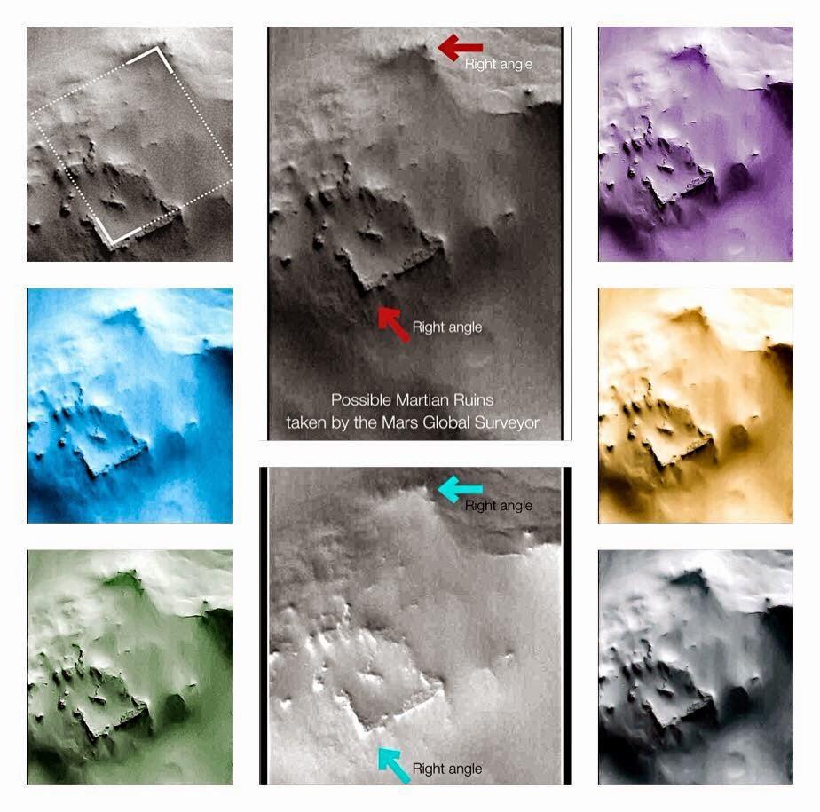 Ερείπια στο πλανήτη Άρη...