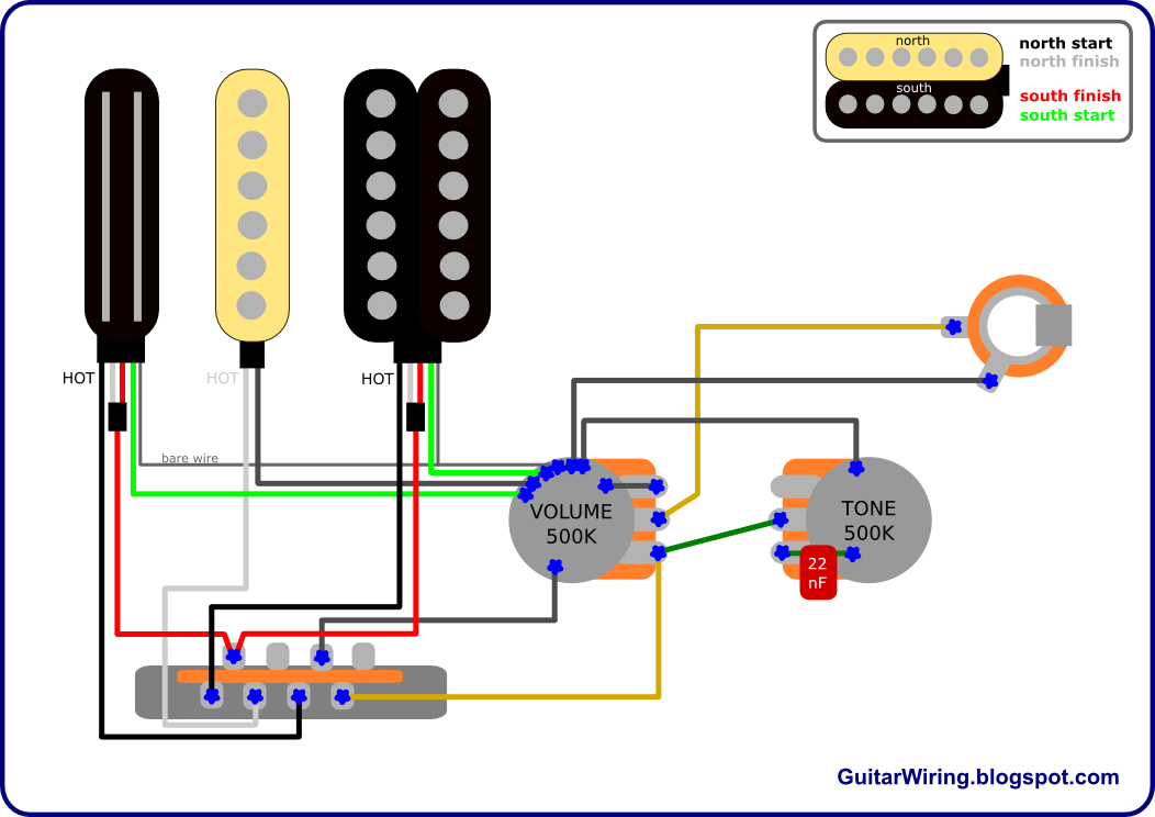 The Guitar Wiring Blog  diagrams and tips: RG Strat – How to Wire a Stratocaster in Ibanez Style