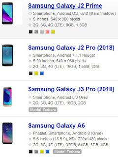 Daftar Harga Samsung Terbaru Update Agustus 2018