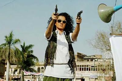 Kangana Ranaut as Alka Singh in Sai Kabir's Revolver Rani, Alka fires her revolver
