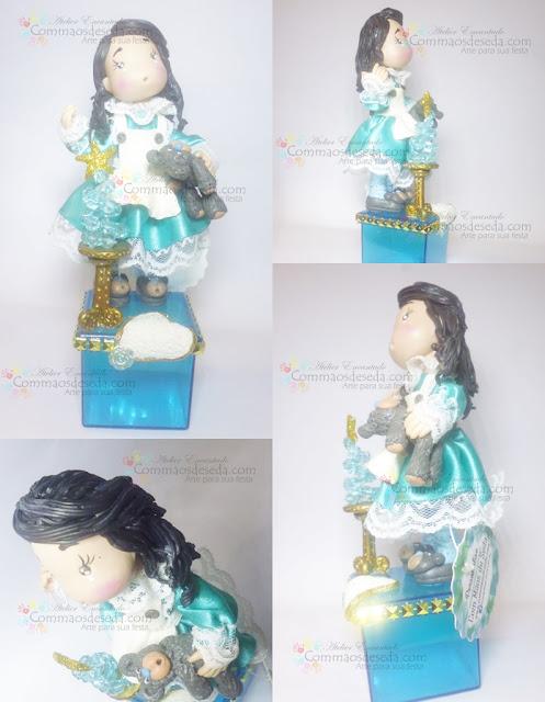 Bambina Azul na caixinha