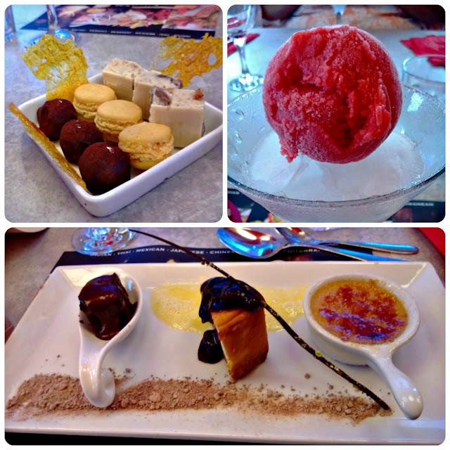 Red Hot World Buffet Petit Fours Raspberry Sorbey and Desserts