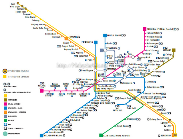 Map for ETS Train