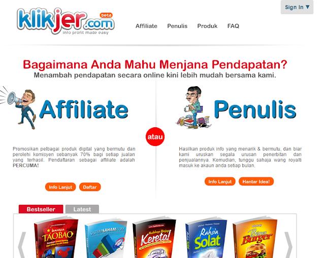 Buat Duit Online Dengan Klikjer.com