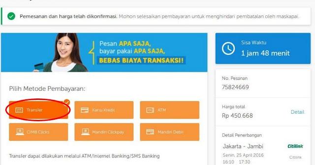 CARA BAYAR TIKET PESAWAT DI TRAVELOKA VIA MANDIRI CLIKPAY