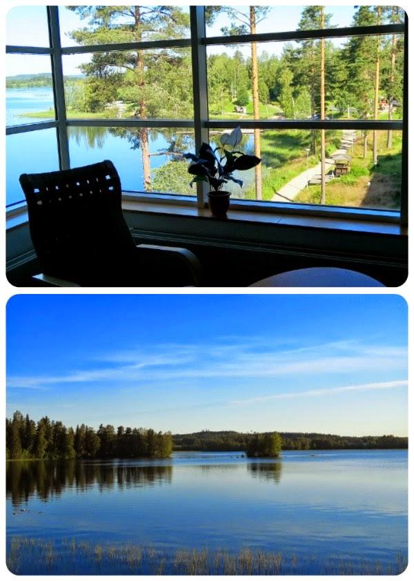 Peurungan kylpylä Laukaa majoitus näkymä järvi hotel
