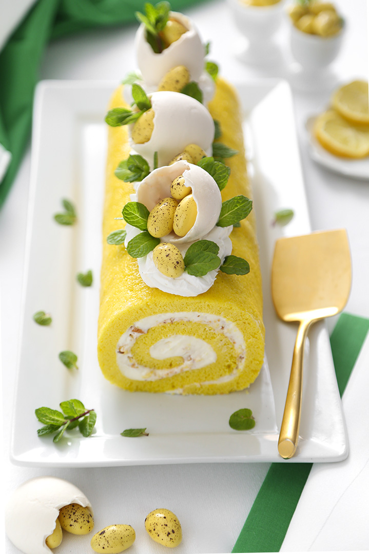 Limoncello Almond Cake Roll