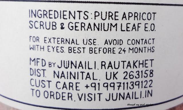 Review of Junaili Apricot Face Scrub, Pure Himalayan Apricot face scrub