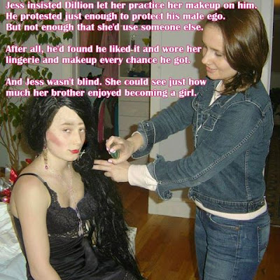 Crossdressed by sister - Sissy TG Caption