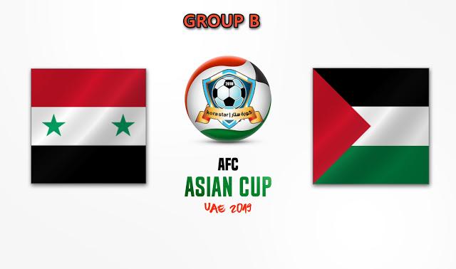 مباراة سوريا وفلسطين  06-01-2019 كأس أسيا