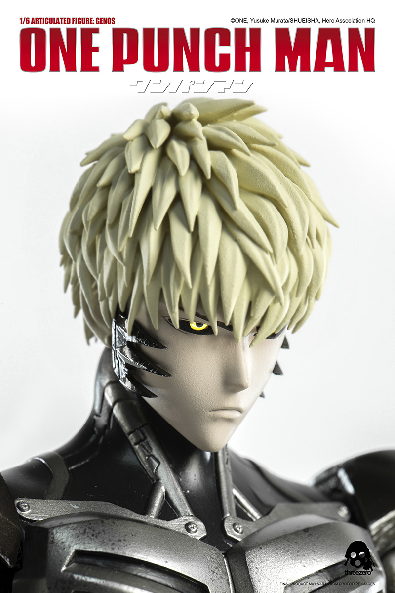 "de4000be49f ... Threezero has launched for pre-orders ONE PUNCH MAN s 1 6-scaled  articulated GENOS beginning TODAY on www.threezerohk.com ""for a limited  time only!"
