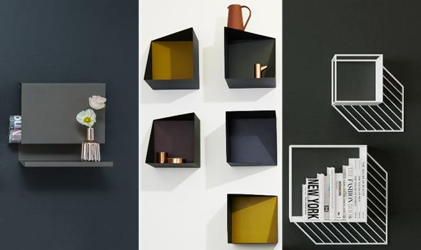 arredo moderno, design, mensole moderne