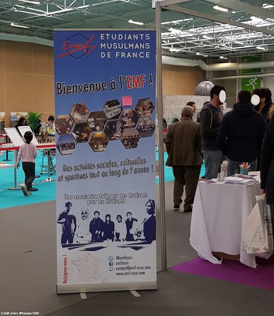 Étudiants Musulmans de France (EMF) avait son stand à la Rencontre organisée par son association de tutelle
