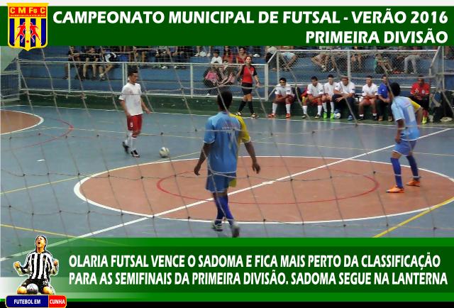 Municipal de Futsal de Verão - 1º Divisão - Resultado 20 01 ... a8afd333a9b45