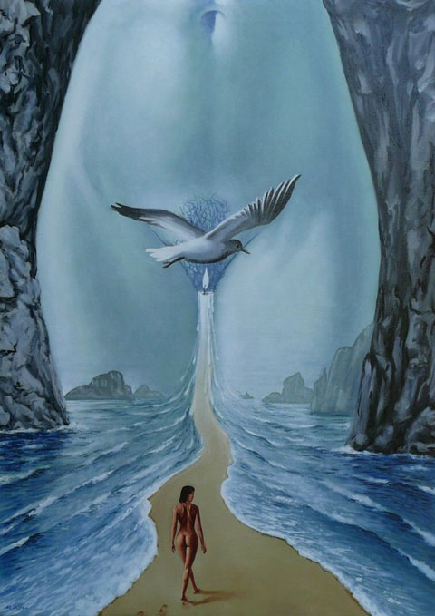Mihai Criste 1975 | Romanian Surrealist painter