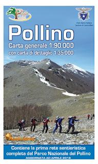 Carta escursionistica del Parco nazionale del Pollino