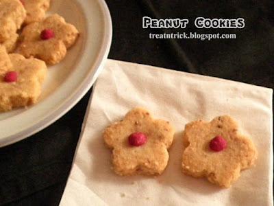 Peanut Cookies Recipe @ treatntrick.blogspot.com
