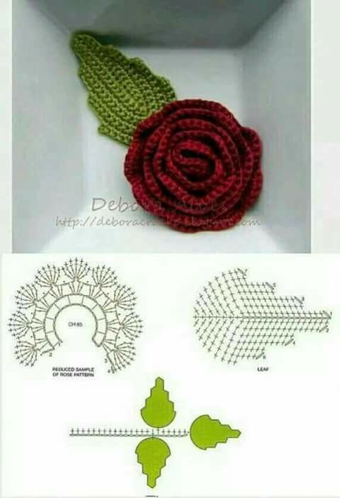 Tintamerahmama seni mengait yang semakin dilupakan bunga ros dan daun sekali dengan diagramnya ccuart Images