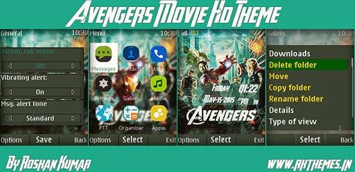Avengers Movie HD Theme For Nokia X2-00, X2-02, X2-05, X3-00