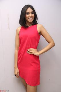 Spatika Surapaneni in Red Tight Dress at FBB Miss India 2017 finalists at Telangana auditions Feb 2017 (55).JPG
