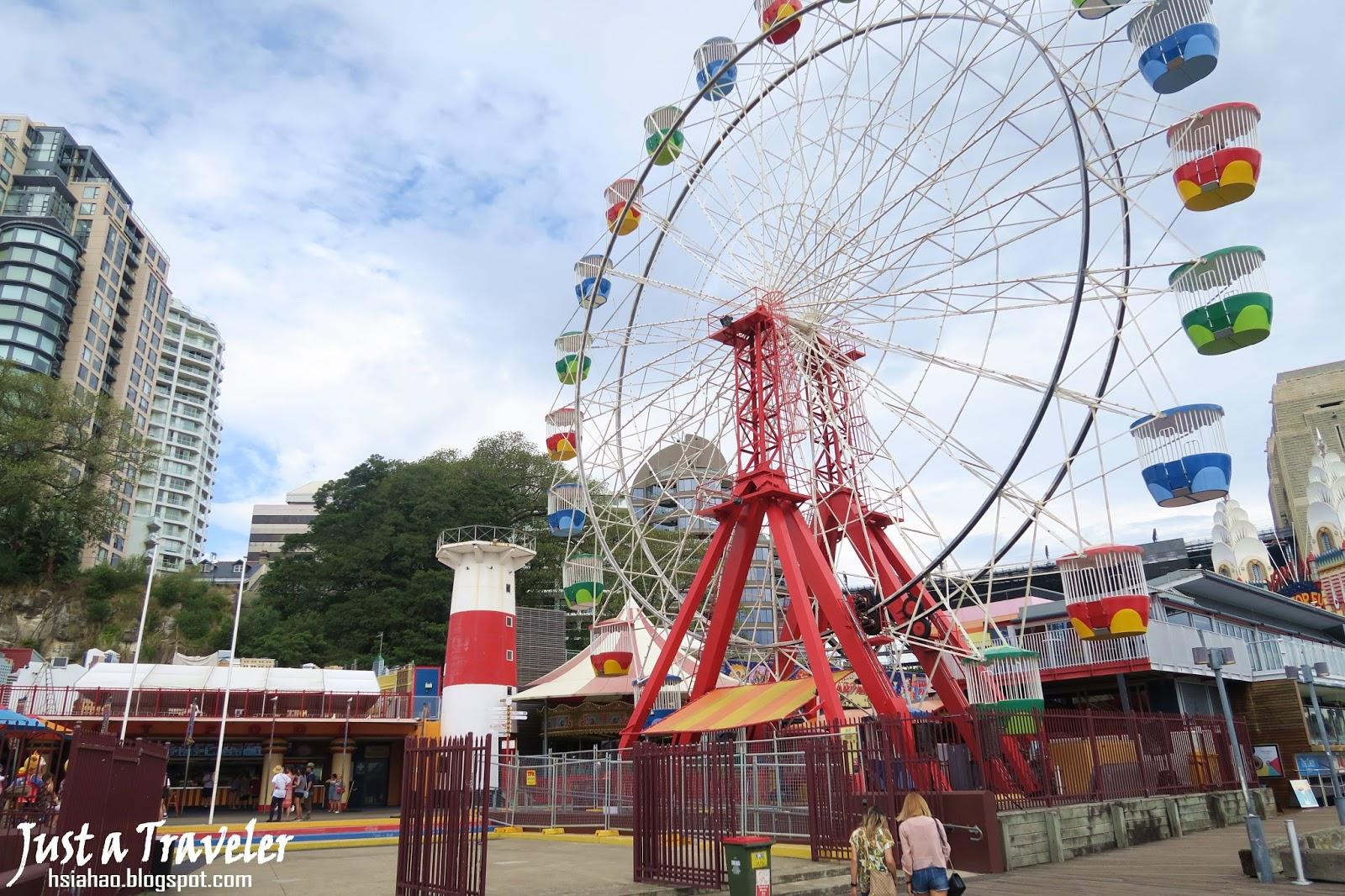 雪梨-景點-推薦-遊樂園-雪梨月神公園-Luna-Park-旅遊-自由行-澳洲-Sydney-Tourist-Attraction-Travel-Australia