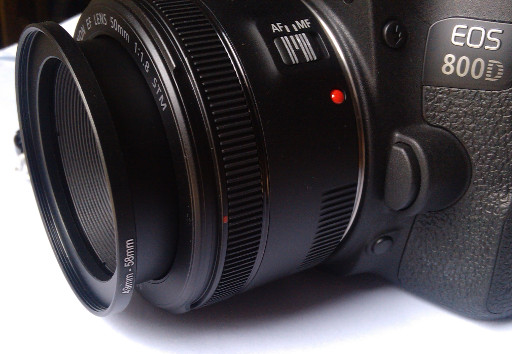 Proocam Step-up Ring Mounted On My Canon 50mm f/1.8 STM Lens