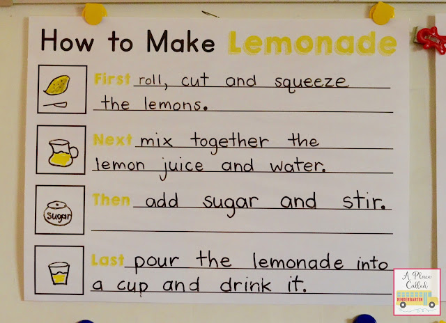 A Place Called Kindergarten How-To Writing Anchor Charts - anchor charts