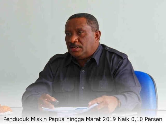 Penduduk Miskin Papua hingga Maret 2019 Naik 0,10 Persen