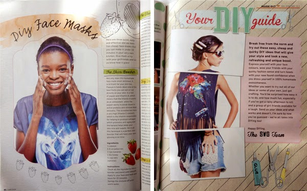 Design work for Saltwater Girl Magazine April/May DIY issue - by Durban freelance illustrator and graphic designer