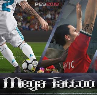PES 2018 Mega Tattoopack by Amir.Hsn7