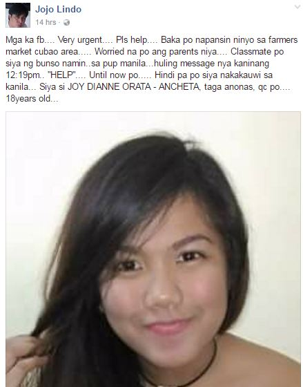 JUST IN: This Girl Is Still Missing And Her Last FB Message Asked For