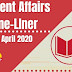 Current Affairs One-Liner: 5th April 2020