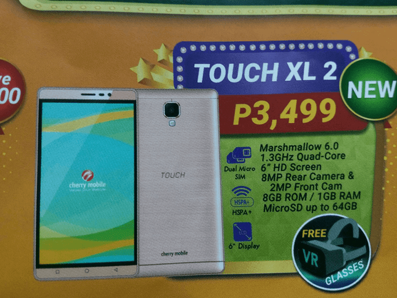 Cherry Mobile Touch XL 2 w/ FREE VR glasses