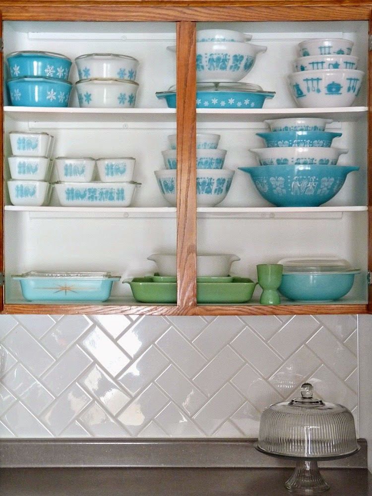 Turquoise Pyrex Collection: Butterprint, Snowflake, Hazel Atlas Kitchen Utensils, Jadeite, Pyrex Starburst