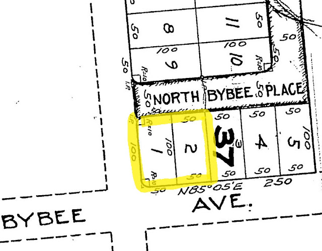 2209 SE Bybee, Portland, Oregon, October 1923 plat survey
